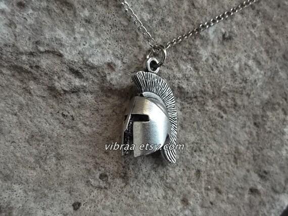 king leonidas spartan helmet necklace pendant