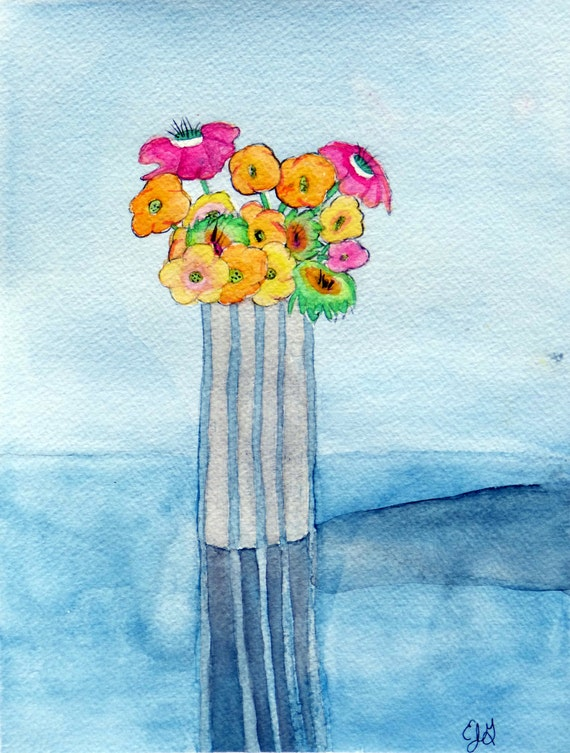 Flower Vase - Eric Gunty - Edible Cake and Cupcake Topper For Birthday ...