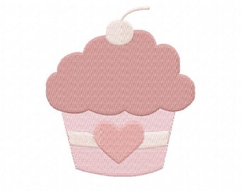4X4 Love Cupcake Machine Embroidery Design Multiple Formats Available - Instant Download