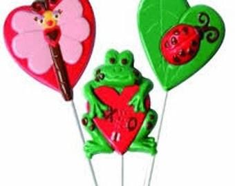 Mold Frog, Ladybug, Firefly Suckers Lollipops Chocolate Candy Molds ...