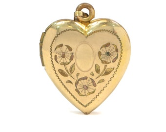 Vintage Engraved Heart Locket