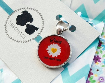 Custom daisy dog tag nametag