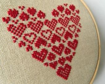 Scandinavian Heart - Instant Download PDF Cross Stitch Pattern