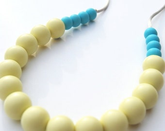 Silicone Teething Necklace / Silicone Nursing Necklace - Apple & Sea
