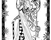 The Snow Queen Digital Art Stamp
