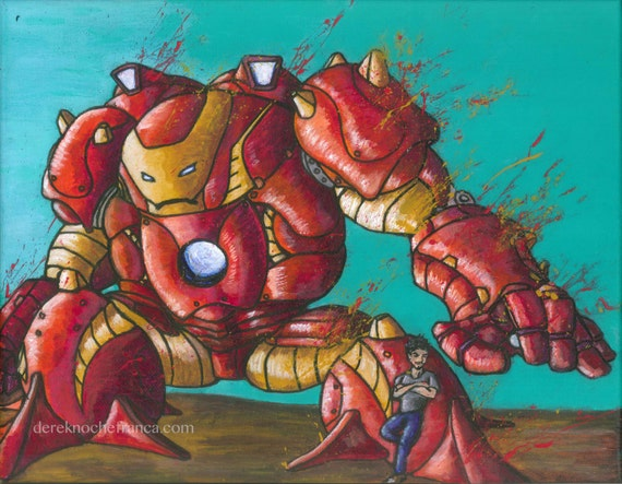 ORIGINAL Hulkbuster painting