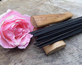 Rose & Sandalwood Incense Sticks  | Absolute Grade | 100% Natural Incense | Traditional Indian Incense | Hand Rolled With Essential Oils