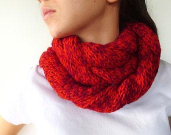 Cuello reversible hecho a mano cuellos tejidos para mujer - Bufandas de lana originales ...