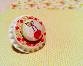 Cherry Bottletop pin / brooch