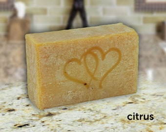 Personalized Organic Soap, Citrus Party Favors