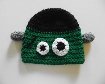 Crochet Frankenstein Monster Hat