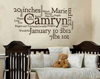 "Custom Baby Subway Art ""Camryn"" Font"