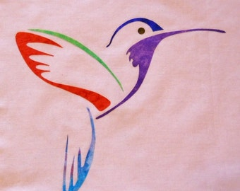 Easy Hummingbird 2 Quilt Applique Pattern Design