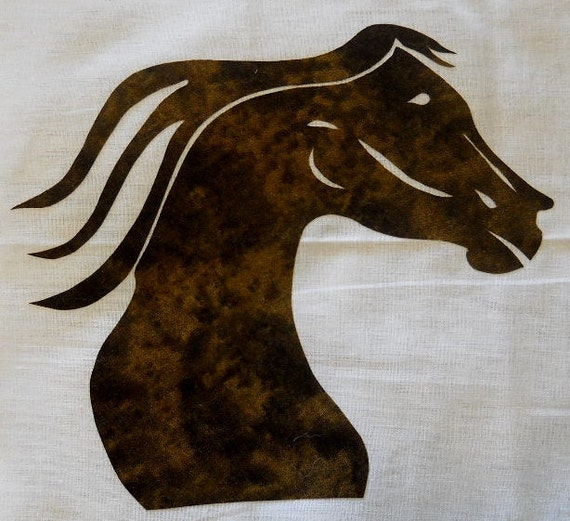Easy Horse Head Quilt Applique Pattern Design