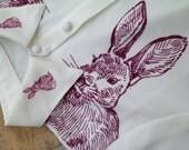 Second version Coming back: Vintage Mr. Rabbit sketch Shirt White
