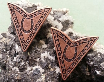 Western Collar Tips Antique Copper 170