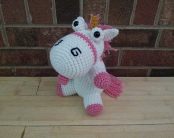 Fluffy Unicorn crochet pattern