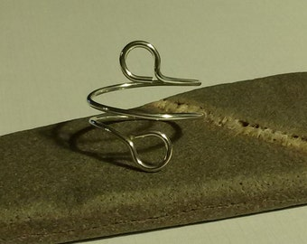 Ring, Sterling Silver Ring, Wire Wrap Ring