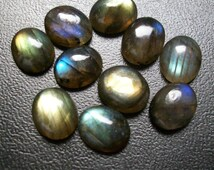 natural LABRADORITE cabochon have lots of gorgeous (12x16), (13x18) mm oval 1 pcs AAA quality beautiful GRAY with blue & green sheen