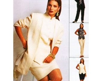 McCall's Sewing Pattern 7444 Misses' Unlined Jacket, Top, Pants, Skirt Size:  B  8-10-12  Used