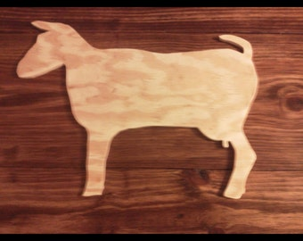 Unfinished Wooden Nigerian Dwarf goat sign Unfinished Wooden Sign, wall hanging, wall decor,farm decor,home decor