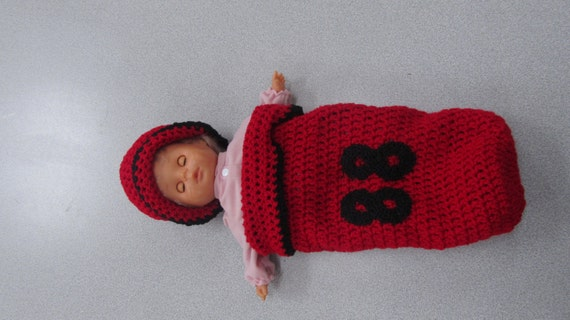 Custom Preemie or Baby Cocoon Set with Cap and Booties