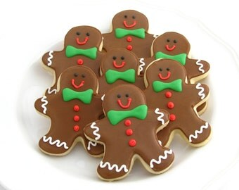 Christmas Gingerbread Men Sugar Cookies-One Dozen