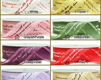15yd 25mm One Roll Organza Ribbon : lettering two lines for gift wrapping, party favors, Christmas wrapping 16 Colors  25mmX13.5M