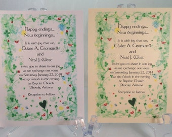 50 CELTIC IRISH Invitations for Weddings or any Occasion Customized for You