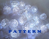 Fairy Lights, String Lights, Bedroom Decor lamps, Lace Crocheted balls, Pattern PDF
