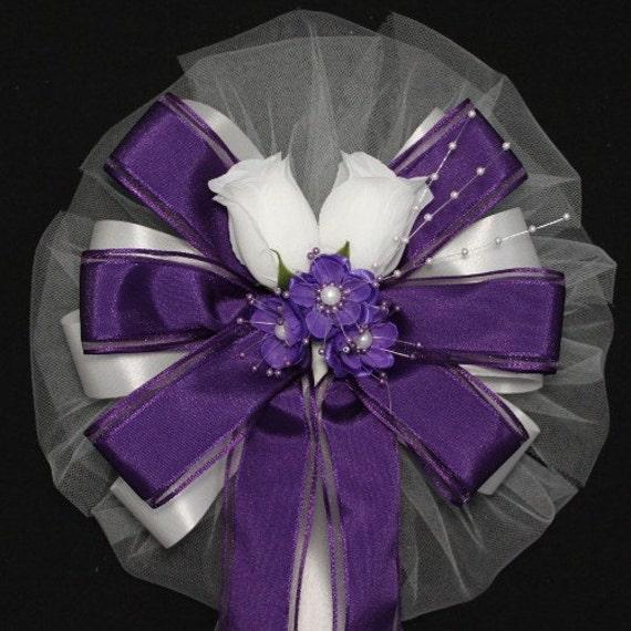 Items similar to white rosebud purple bengaline ribbon