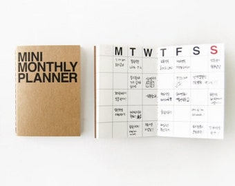Monthly Planner Notebook / Monthly Diary / Kraft Monthly Planner
