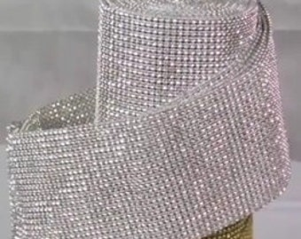 """4.75"""" x 10Yards - 9 colors available - Diamond Mesh Wrap Roll Sparkle Rhiinestone Crystal Ribbon (pick your own color choice)"""