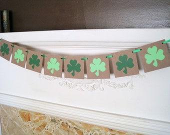 St. Patrick's Day Decoration, St Patricks Day Banner, shamrock sign, clover banner, St. Patrick's Day sign, Party decoration, green banner