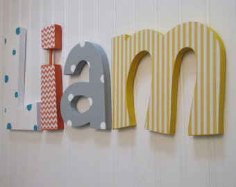 Nursery decor, Nursery wall decor,  nursery letters, baby boy nursery letters, nursery decor, nursery wall letters