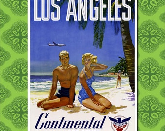 Los Angeles California Travel Poster Wall Decor (7 print sizes available)