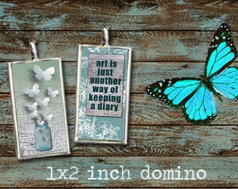 Words of Wisdom Life Sayings Quotes 1x2 Inch Domino Digital Collage Sheet for Pentants