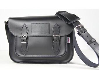 Black Leather Satchel Leather Satchel Medium Size Leather Satchel