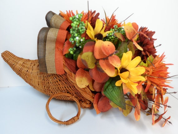 Cornucopia Basket Horn of Plenty Thanksgiving decor Fall
