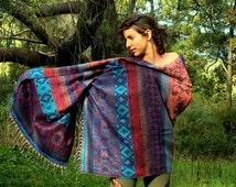 Shanti Shawl - Kashmiri Festival Boho Winter Warm Gypsy Hippie Style