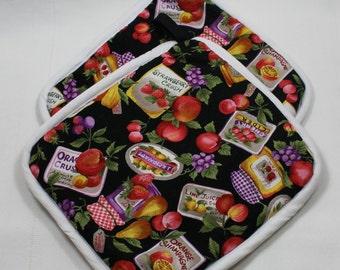 Jam & Jelly Pot Holders/Hot Pads - Great Gift!  Bridal/Wedding/Anniversary/Hostess/Housewarming -  Kitchen/Housewares Item - Gift under 15