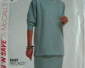 Misses Top and Skirt Size 14-16-18 Stitch 'N Save by McCalls Pattern 4393 Easy to Sew - Comfortable to wear. UNCUT Pattern 1989