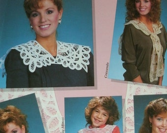 Collars from Doilies and Table Linens - by Bobbie Matela for American School of Needlework #4408 13 Projects, Photos and Full Instructions