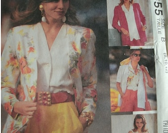 Misses Cardigan and Blouse Size 8-10-12 McCalls Sew News Pattern 5855 - The Fashion Collection Rated EASY  UNCUT Pattern 1992