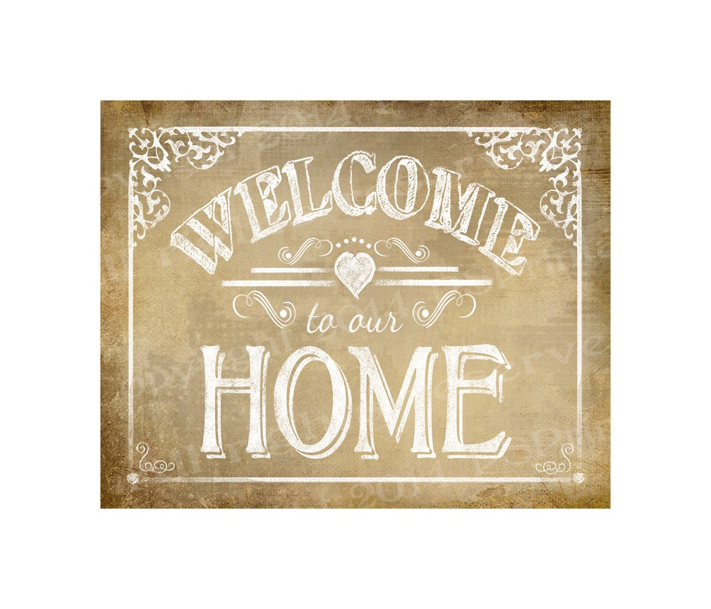 Tactueux image throughout printable welcome home sign