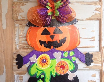 Pumpkin Witch Halloween Door Hanger