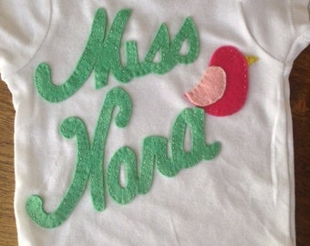 Custom onesie for baby Nora