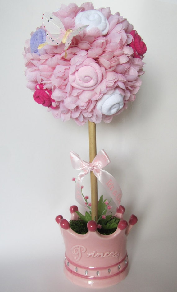 baby girl topiary princess baby shower centerpiece baby girl shower