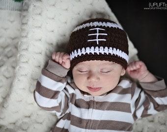 Football Boy's Crochet Beanie Hat