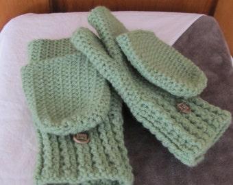 Crocheted Convertible Mittens -Teen/Adult